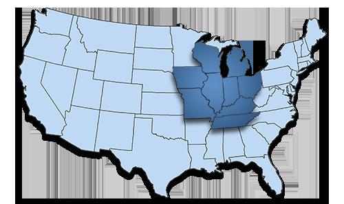 Transportation Trucking Illinois Missouri Iowa Wisconsin Michigan Indiana Ohio Kentucky Tennesee Midwest